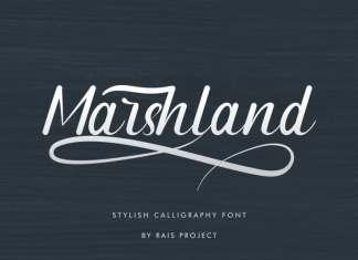 Marshland Calligraphy Font