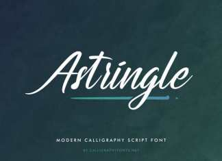 Astringle Calligraphy Font