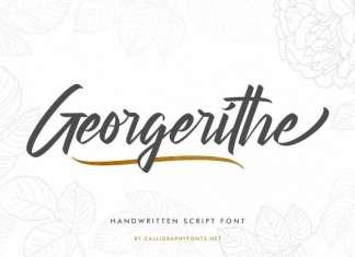 Georgerithe Script Font