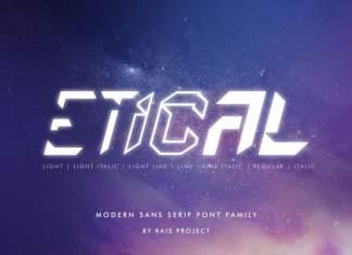Etical Display Font