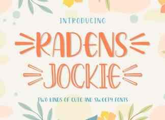 Radens Jockie Font