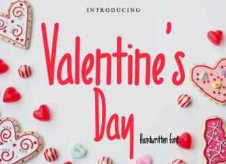 Valentine's Day Handwritten Font