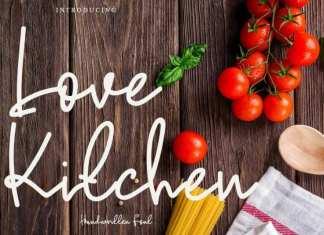 Love Kitchen Handwritten Font
