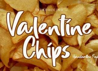 Valentine Chips Brush Font