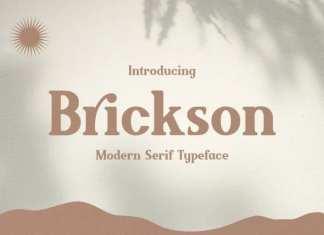 Brickson Serif Font
