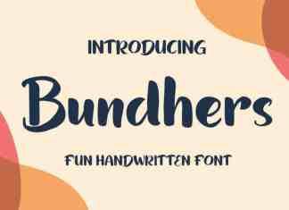Bundhers Brush Font