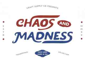 Chaos and Madness Display Font