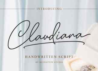Claudiana Handwritten Font