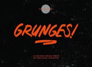 Grunges Brush Font