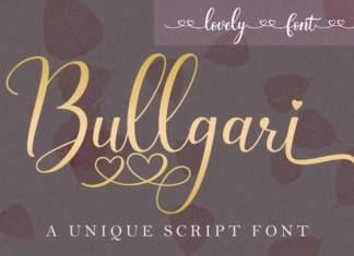 Bullgari Calligraphy Font