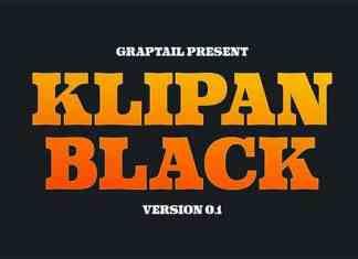 Klipan Black Font