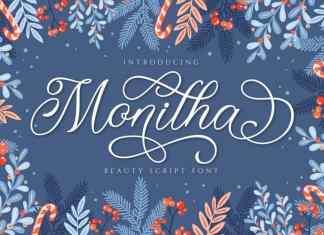 Monitha Calligraphy Font