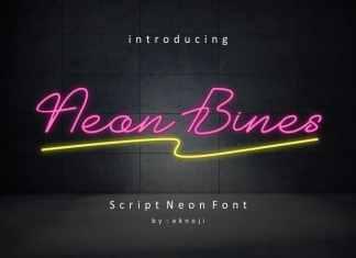 Neon Bines Handwritten Font