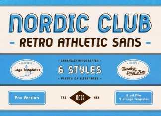 Nordic Club Sans Serif Font