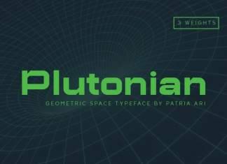 Plutonian Display Font