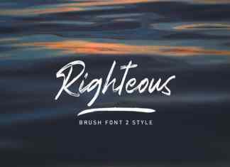 Righteous Brush Font