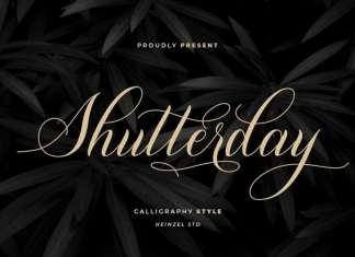 Shutterday Calligraphy Font
