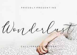 Wonderlust Calligraphy Font
