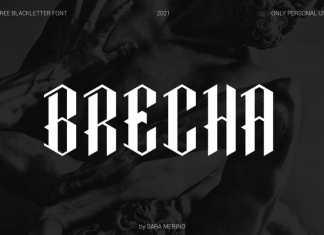 Brecha Blackletter Display Font