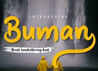 Buman Script Font