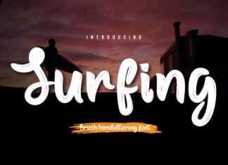 Surfing Script Font