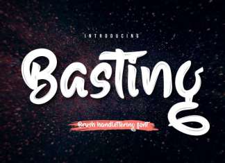 Basting Script Font
