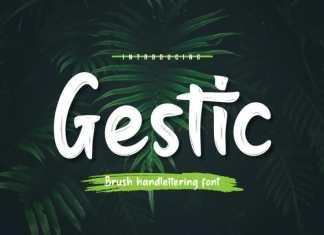 Gestic Script Font