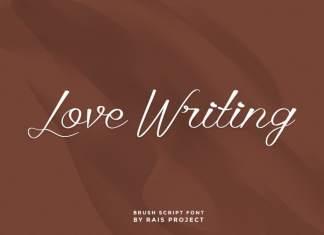 Love Writing Script Font