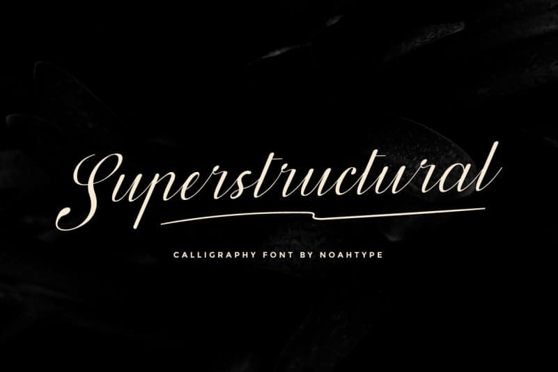 Superstructural Calligraphy Font
