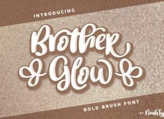 BrotherGlow Brush Font