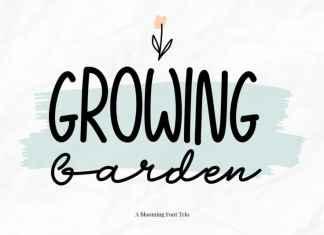 Growing Garden Font