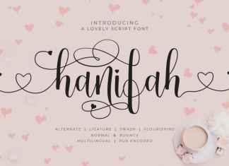 Hanifah Calligraphy Font