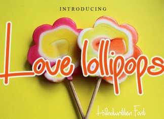 Love Lollipops Font