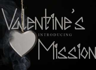 valentine's mission Display Font
