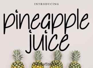 Pineapple Juice Handwritten Font