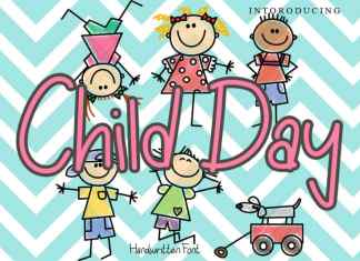 Child Day Display Font