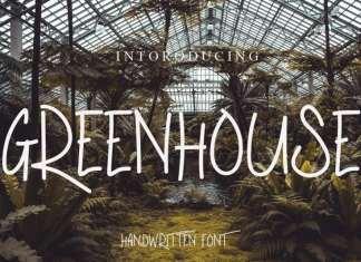 Greenhouse Display Font