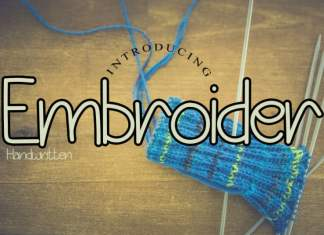 Embroiderr Display Font