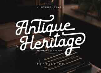 Antique Heritage Script Font