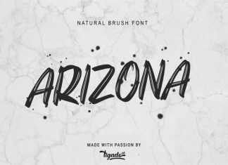 Arizona Brush Font