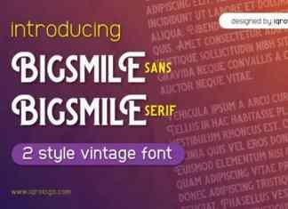 Bigsmile Font