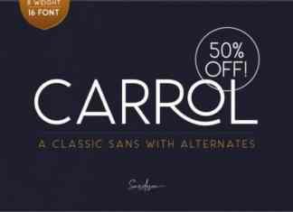 Carrol Sans Serif Font