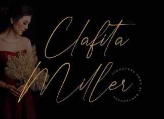 Clafita Miller Script Font