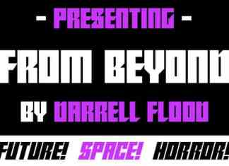 From Beyond Display Font