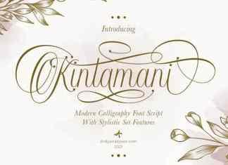 Kintamani Calligraphy Font