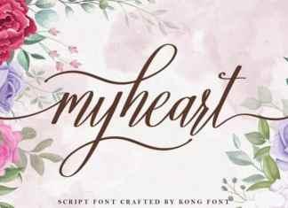 Myheart Calligraphy Font