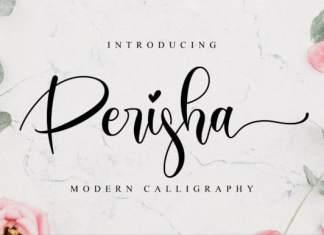 Perisha Calligraphy Font