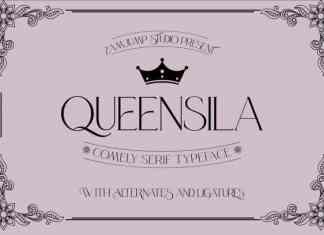 Queensila Serif Font
