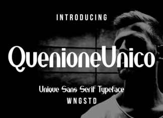 Quenione Unico Sans Serif Font