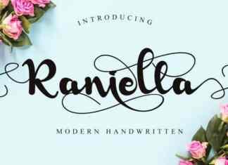 Raniella Calligraphy Font